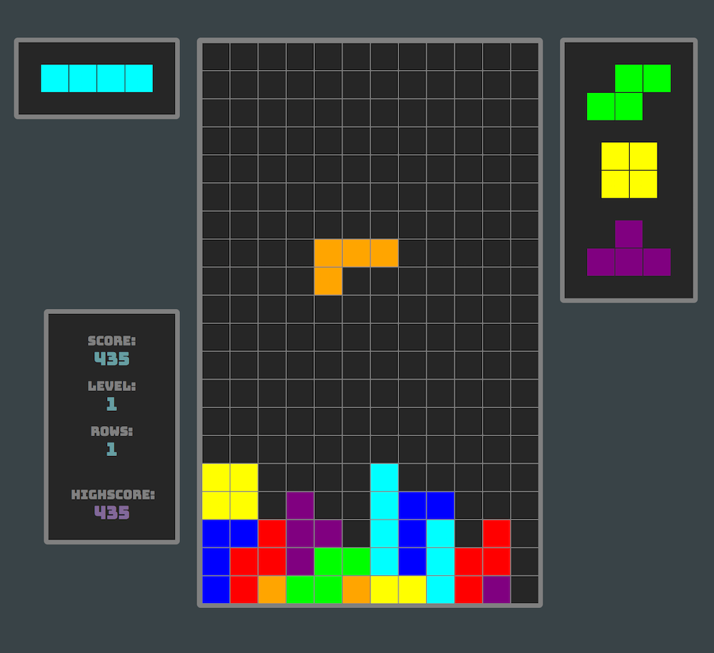 Tetris (Angular) screenshot