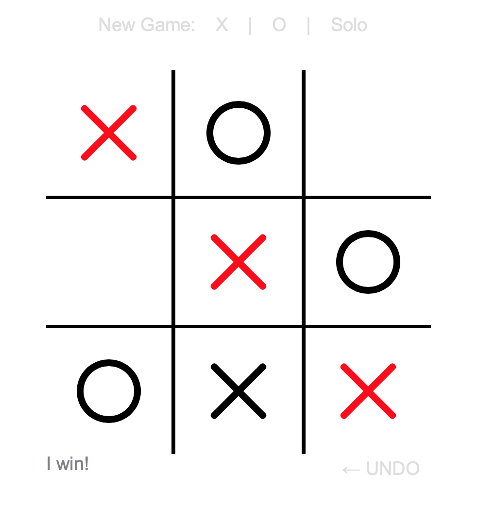 Tic-tac-toe screenshot